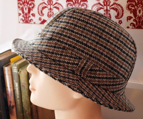 RESERVED FOR ROBIN Vintage Tweed Trilby / Wool Hat / Classic Vintage Hat / Womens Mens Unisex Vintage Hat