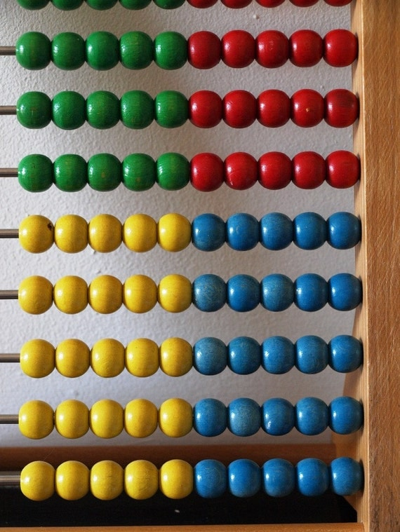 Vintage toy abacus to brighten your home.