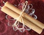 "Set of 2-8"" Bees Wax Honey Comb Candles"