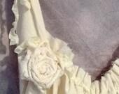 Short Wedding Dress Corset Bridal Gown Womens Custom Made Ivory or White Rose Hem