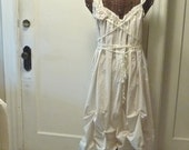 Wedding Gown Dress Bridal Beach Corset Custom Handmade Mid Tea Length Wedding Dress Womens Bridal Gown Ivory or White Triple Tier Hem