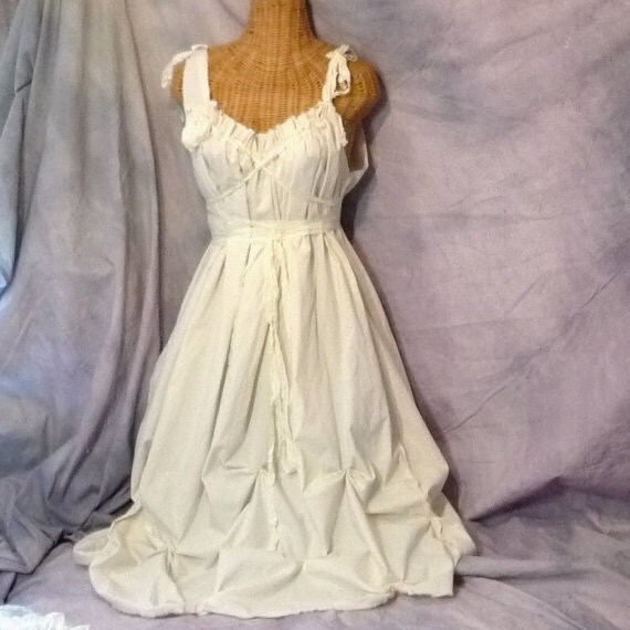 Items Similar To Wedding Gown Dress Barefoot Bride Corset