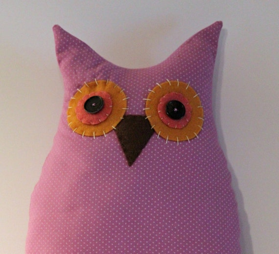 Lollipop Hoot Owl Pillow 16