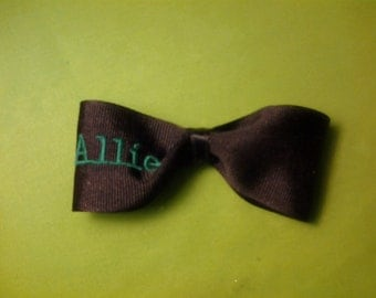 Monogrammed Hair Bow 5 letter maximum.