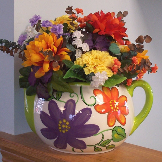 Large Teapot Floral Arrangement