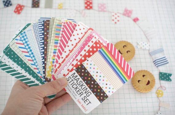 Masking tape 27 sheets - KOREA sticker set (washi)- sweet ver. basic (kraft pack)