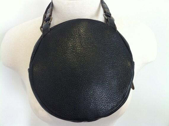 Champ Black Top Grain Cowhide Leather 1940s Handbag