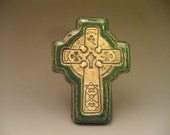 Shamrock Cross Celtic Knots Irish Green St. Patrick's Day Gaelic Ireland Baptism Confirmation Housewarming Teacher Minister
