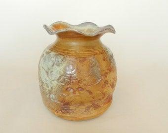 Soda Fired Granny Vase