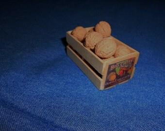 Miniature Crate of Cantaloupes
