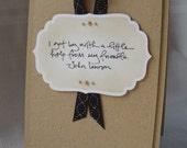 Get by with a little help from my friends card, with John Lennon quote