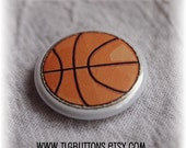 Basketball Pin, 1 inch pin,  pinback button, sweet party favor by TLGBUTTONS on Etsy