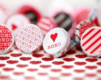Wedding xoxo Printable Hershey's Kisses Chocolate Candy Stickers for Gifts or Party Favour by daintzy