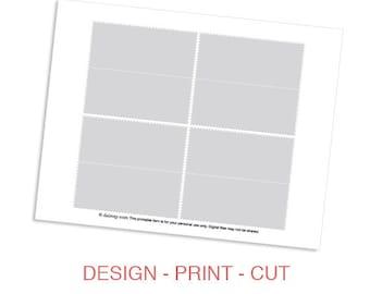 instant download candy treat favor bag topper template. Black Bedroom Furniture Sets. Home Design Ideas