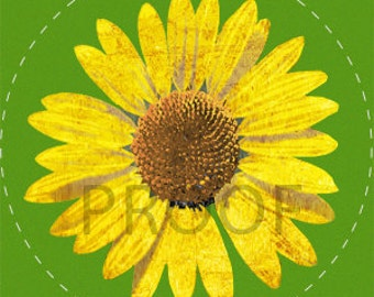 Sunflower Mini Cupcake Topper Printable by Daintzy
