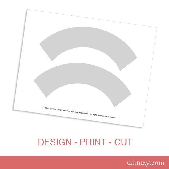 Standard Cupcake Wrapper Template cupcake wrapper template printable ...