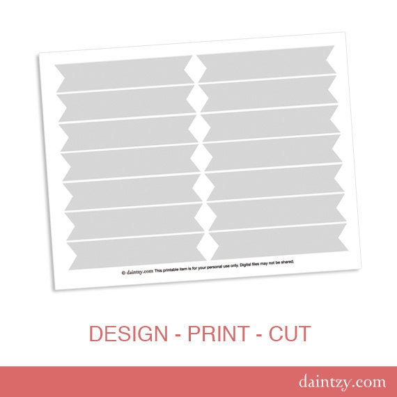 Cupcake Flag Printable Template DIY Blank Make Your Own