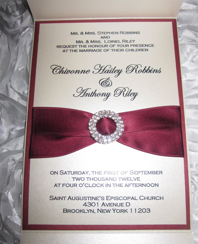 marsala and champagne wedding invitation marsala wedding, Wedding invitations