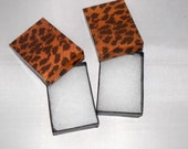 100 Leopard Print Jewelry Gift Boxes, Presentation Boxes, Display Retail Box