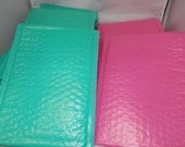 20 Hot Pink And Teal 6x10 Poly Bubble Mailers Self Seal Envelopes Colored Padded Mailing Envelopes Pink bubble mailers self adhesive plastic