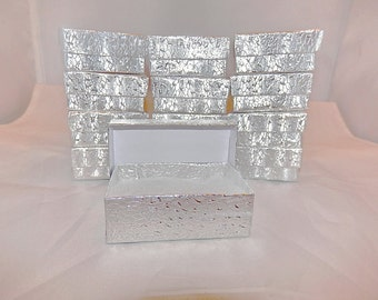 20 Silver Jewelry Presentation Display Boxes size 3.25x2.25 Gift Retail Cotton Filled Boxes
