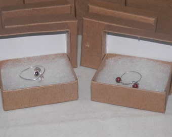 "20 Kraft Cotton Filled Jewelry Presentation Gift Boxes 3.25"" X 2.25"" x1"