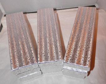 """20 Silver 8""""x2""""x1"""" Presentation Cotton Filled Jewelry Boxes, Necklace Display Boxes"""
