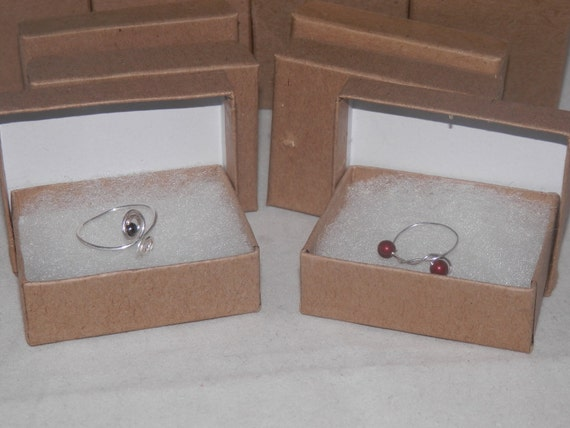 "100 Kraft Cotton Filled Presentation Jewelry Boxes 3.25""x2.25""x1"" Display, Gift, and Retail"