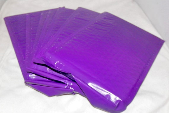 20 purple poly bubble mailers self seal envelopes by