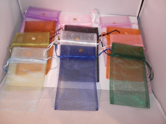 Drawstring  Jewelry Gift Bags, Sheer Bags Organza Bags 3x4