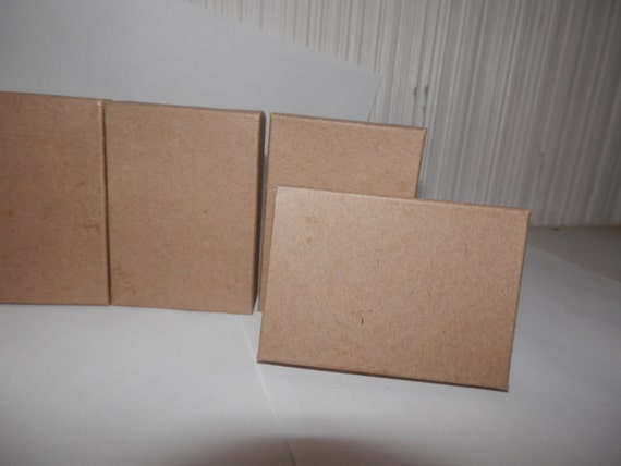 Bargain Bin Discounted 100 Kraft Jewelry Presentation Display Boxes size 3.25x2.25 Gift Retail Cotton Filled Boxes
