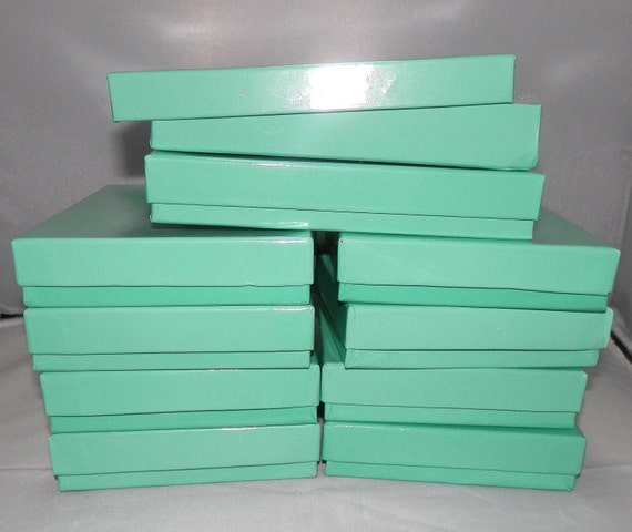 20 Pack of Teal Cotton Filled  Jewelry Presentation Display Gift Boxes size 5.5x3.5