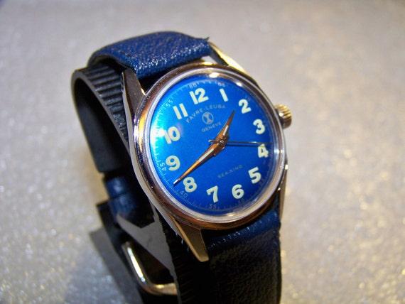 VINTAGE FAVRE LEUBA Sea King 17 Jewels Swiss Antique Hand-Wind Watch