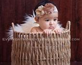 vintage inspired headband, newborn headband, girls headband, photo prop