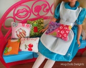 Handmade Dolls Cushions, 1/6 size for Barbie, Sindy, Blythe size dolls, very cute