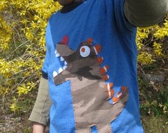 New Monster In Town Kids T shirt Crocodile or Dinosaur