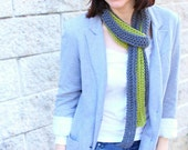 Crochet Scarf Pattern PDF. One Ball Fashion Scarf. Easy pattern with US, UK and symbol chart instructions.