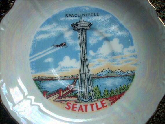 Seattle Space Needle Souvenir Plate