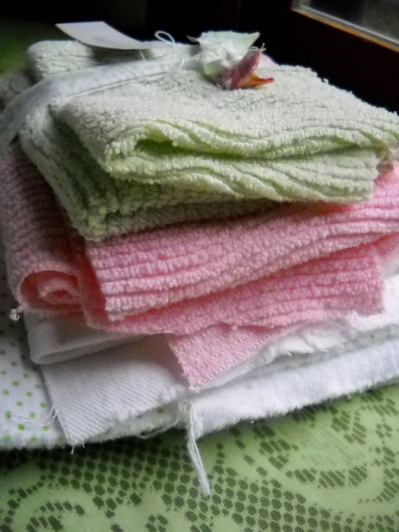Short Stack of Vintage Fabric for Crafting