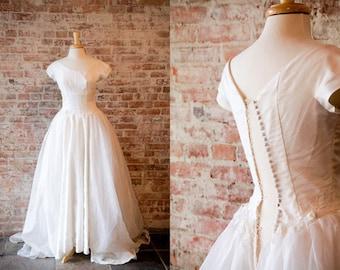 Vintage 1950s Wedding Dress Jackie Kennedy Style