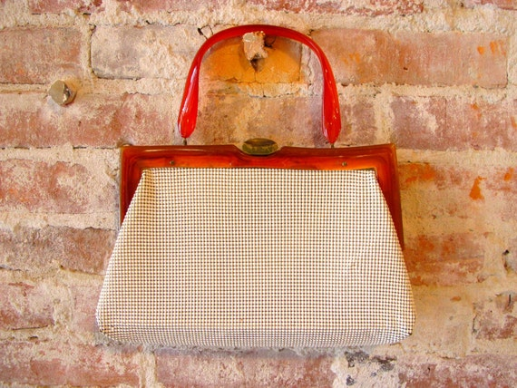 Vintage 1930s White Whiting and Davis Bag