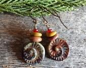 Sea Side Swearl - Dangle Earrings