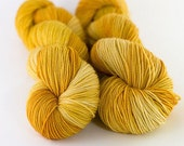 Clementine - Hand dyed sparkle fingering weight yarn