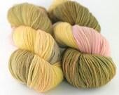 Hand dyed fingering weight SW Merino yarn- Mirabelle