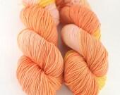 Hand dyed SW Merino/ Nylon fingering yarn- Quince