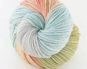 Hand dyed SW Merino worsted yarn- Mermaid