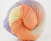 Hand dyed superwash merino/nylon fingering weight yarn - Petite Marguerite