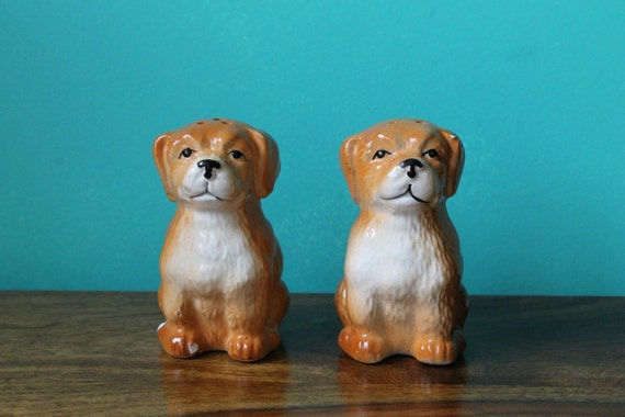 Sweet Puppy Dog Salt and Pepper Shakers