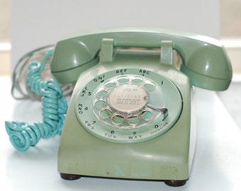 Awesome Retro Rotary phone with hard to find classic period color