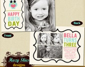 Birthday Photo Card Template 5x7